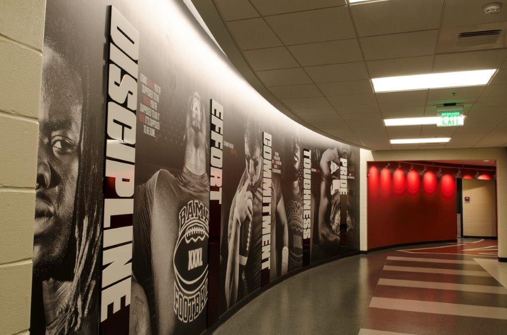 Mal m moore athletic facility harrison construction - Interior design schools in alabama ...